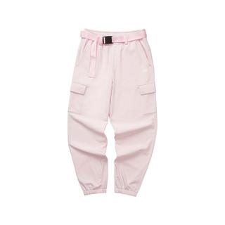 SKECHERS 斯凯奇 Skechers斯凯奇2021秋冬新款女宽松舒适个性潮流加绒工装梭织长裤