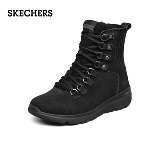 SKECHERS 斯凯奇 Skechers斯凯奇2021秋冬季新款保暖毛粒绒雪地靴女高帮潮鞋休闲靴