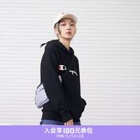 Champion 冠军2021秋季新款纯棉草字LOGO长袖连帽衫卫衣无性别男女情侣