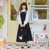 十三余 小豆蔻儿 妙达 汉元素 刺绣连衣裙 SYS141227K 黑白色