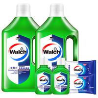 PLUS会员:Walch 威露士 多用途消毒液套装 1L*2瓶+60ml*2瓶+10片*2包 青柠味