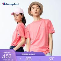 Champion 春夏基础全棉小C刺绣休闲运动T恤无性别冠军短袖男女情侣