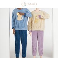 DAPU 大朴 杯子系列 AF1F12202 男女款保暖睡衣套装