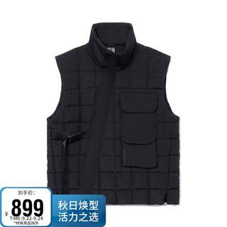 LI-NING 李宁 男装棉服2021成龙功夫系列男子保暖宽松棉马甲AMMR017 黑色-2 3XL