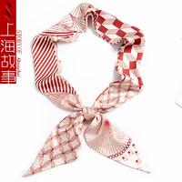 shanghai story 上海故事 %100真丝 缎面长条丝巾
