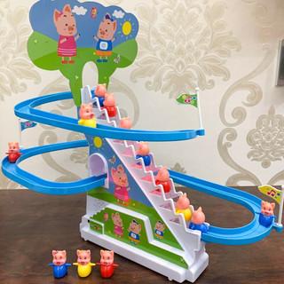 爱乐心 小猪爬楼梯电动玩具 电池款 滑梯+三佩奇