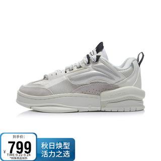 LI-NING 李宁 女鞋运动时尚鞋2021中国李宁系列惟吾 禅运动时尚经典休闲鞋AGCR272 雪白-2 36