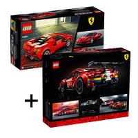 黑卡会员:LEGO 乐高 机械组合 法拉利 488 GTE赛车 42125+法拉利 F8 Tribut 76895