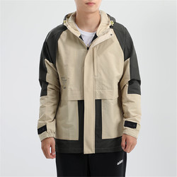 adidas 阿迪达斯 男装运动服连帽休闲舒适透气健身梭织夹克外套户外风衣