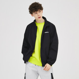 Meters bonwe 美特斯邦威 男士外套男2021秋季新品休闲时尚百搭撞色长袖外套男式夹克
