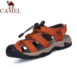 CAMEL 骆驼 Camel/骆驼正品女鞋 夏季新款真皮户外沙滩鞋 休闲鞋运动包头凉鞋