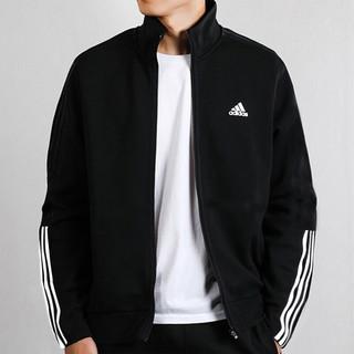 adidas 阿迪达斯 秋季新款时尚百搭男子针织夹克运动外套宽松休闲男装