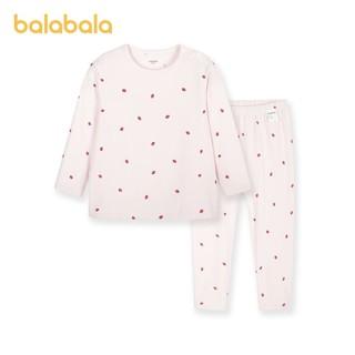 balabala 巴拉巴拉 儿童保暖内衣套装女童秋衣秋裤套装棉氨柔软舒适春季新款