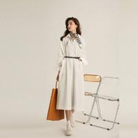23日10点:ANNE KLEIN 安妮·克莱因 女士气质法式连衣裙 BAB1219SEA