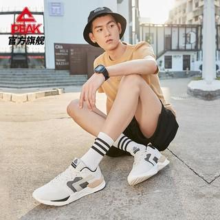 PEAK 匹克 轻弹科技时尚休闲鞋男鞋2021新款官网经典男士户外鞋DE110101