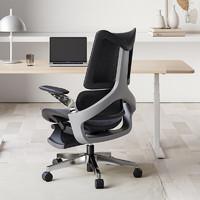 22点截止、新品发售:HBADA 黑白调 E702 人体工学电脑椅 黑色