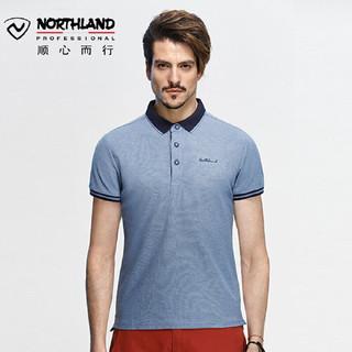 NORTHLAND 诺诗兰 春夏户外休闲T恤户外男运动潮流短袖Polo衫GL075B03