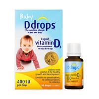 Ddrops 美版Ddrops婴儿维生素D3滴剂90滴2.5ml钙吸收搭档0岁以上