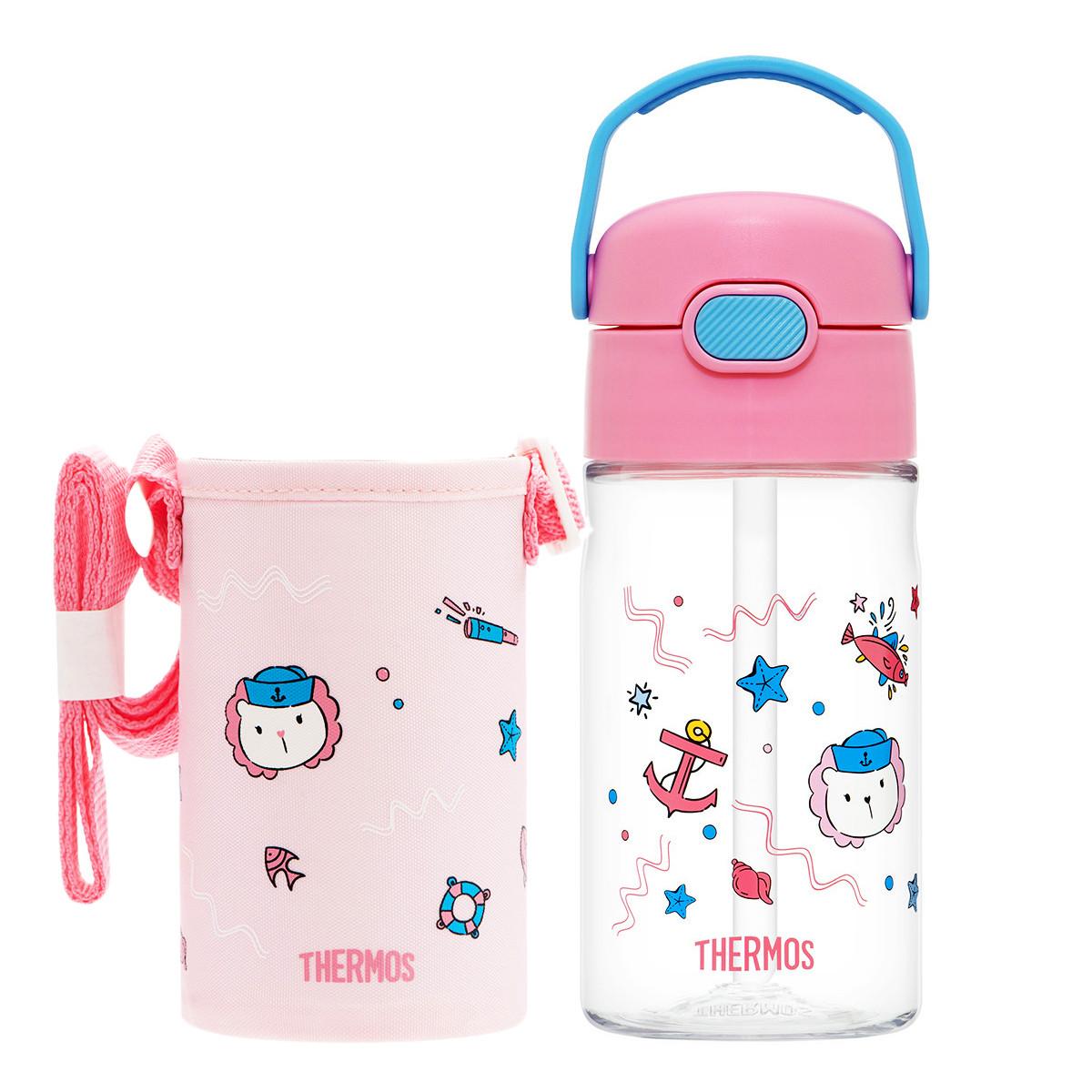儿童吸管杯 420ml 带杯套