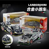 驰美 1:32兰博基尼EVO合金车模型摆件回力声光儿童玩具涂鸦印花赛道版