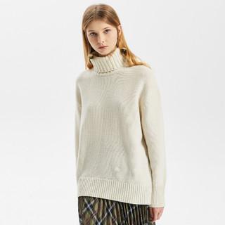 ME&CITY 秋冬女装高领羊毛衫套头针织打底衫女式毛衣