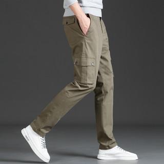 ROMON 罗蒙 休闲裤时尚直筒版型口袋设计时尚舒适棉质百搭男士休闲裤长裤