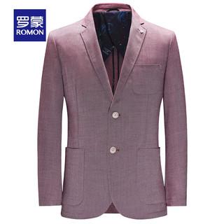 ROMON 罗蒙 男士商务单西外套2021春季新款中青年休闲百搭正装纯色西装男