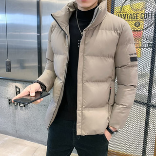 FORTEI 富铤 棉衣男士冬季棉服韩版潮流工装立领夹克棉袄时尚百搭保暖外套上衣服男装 GT M2005 黑色 XL