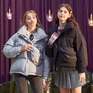 TONLION 唐狮 冬季新款羽绒服女时尚束腰显瘦斜挎包上衣学生韩版ins潮