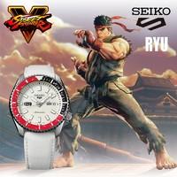 SEIKO 精工 ×街霸5 合作限定款 SRPF19K1 中性款机械腕表