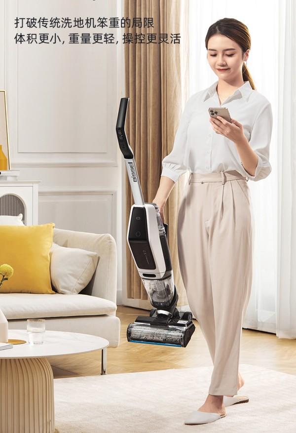 小编精选:高速吸拖洗 一遍就干净 必胜四代无线智能洗地机