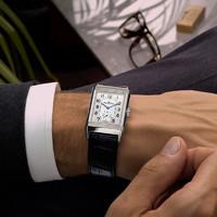 JAEGER-LECOULTRE 积家 翻转系列 小秒针精钢机械手表男 中型款