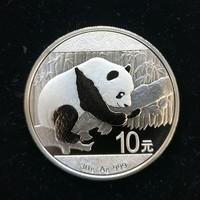 2016年熊猫纪念银币 40mm 银 面值10元 30克 含银量99.9%
