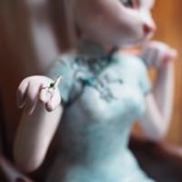 ARTMORN 墨斗鱼艺术  庄凯凯 限量雕塑摆件《流金岁月》18x17x30CM 玻璃钢 银烟托 限量999件