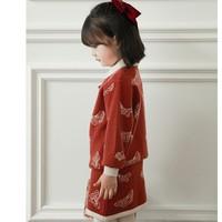 YOYO KIDS 幼悠 儿童针织旗袍两件套