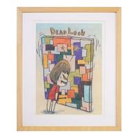 维格列艺术 奈良美智《无题系列二十五》45x38cm 海报画作 装饰挂画