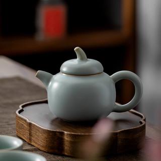 慈空 汝窑茶壶陶瓷单壶天青色手工功夫茶具 冰裂釉手工茶壶