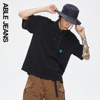 ABLE JEANS2021夏季新品史迪奇男女潮牌宽松休闲薄POLO衫 776010
