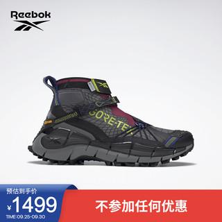 Reebok 锐步 官方2021秋季新款男鞋女鞋H05174撞色拼接中帮跑步鞋 H05174-黑/淡灰 43