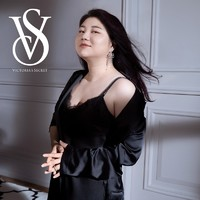 VICTORIA'S SECRET 维多利亚的秘密 维密 维多利亚的秘密  蕾丝网纱水钻肩带性感薄款文胸内衣 54A2黑色 32B(70B)