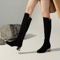 88VIP:BASTO 百思图 A5867DG0 加绒长靴