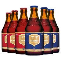 有券的上:CHIMAY 智美 红帽*3/蓝帽*3啤酒 组合装 共330ml*6瓶