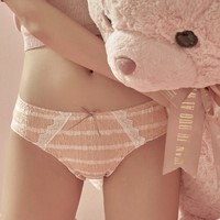 SIXRABBIT 六只兔子 X-1942-HS 少女条纹三角内裤