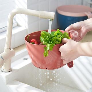 创意镂空水果盆 洗水果沥水篮 家用收纳篮洗菜篮 塑料厨房洗菜盆