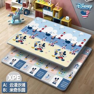 Disney 迪士尼 宝宝爬行垫XPE加厚2CM婴儿爬爬垫儿童泡沫游戏地垫 云漫沙滩+米奇乐园 180*150*2CM