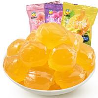 来伊份爆浆果汁软糖250g约12包左右水蜜桃芒果葡萄蓝莓水果味夹心糖果独立小包装称重休闲零食来一份 随机混合口味250g