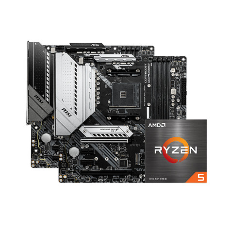 MSI 微星 A520M-A PRO 主板 + AMD 锐龙 R5-5600X CPU处理器 CPU套装