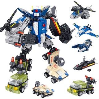 SEMBO BLOCK 森宝积木 积木玩具赛车拼装模型 雷霆战神 六合一 699颗粒