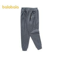PLUS会员:balabala 巴拉巴拉 儿童百搭纯色运动裤
