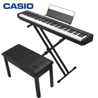 CASIO 卡西欧 电钢琴CDP-S100BK升级款CDP-S110BK 88键重锤数码电子钢琴时尚轻薄便携款 X架